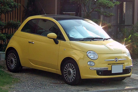 FIAT500 1.4Lounge Yellow
