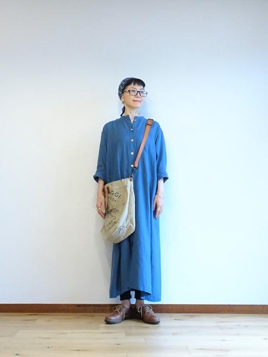 ブルーのリネンドレス~ (3)