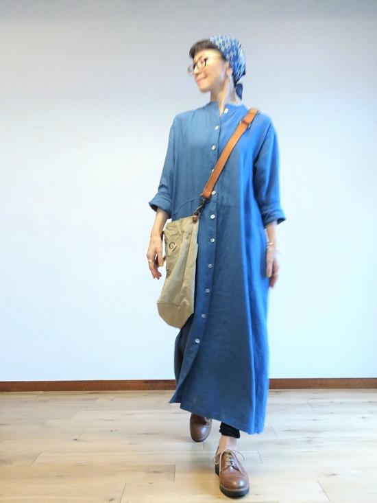 ブルーのリネンドレス~ (1)