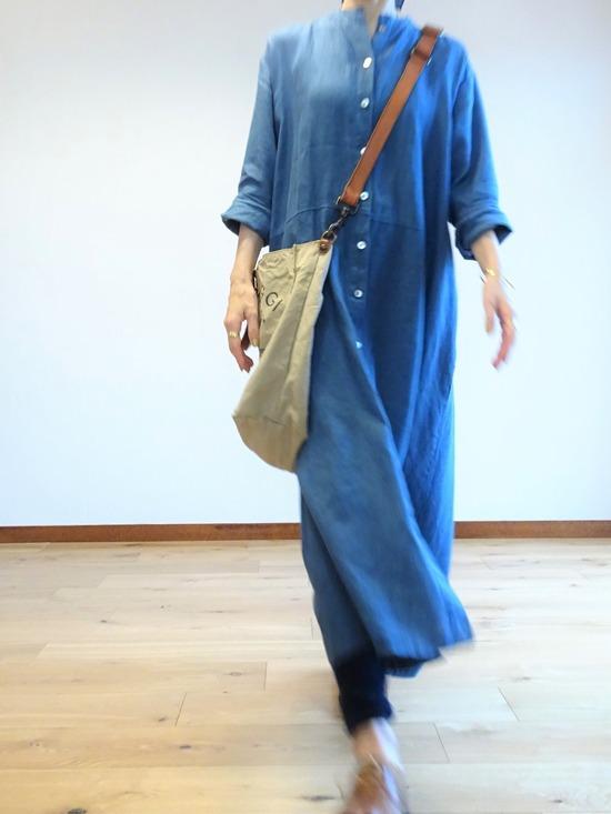 ブルーのリネンドレス~ (4)