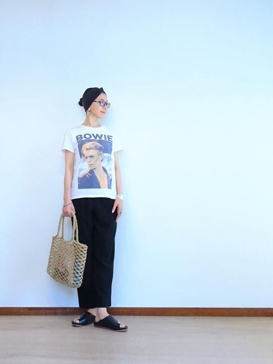 BOWIE Tシャツ&ヨーガンレールパンツ (1)