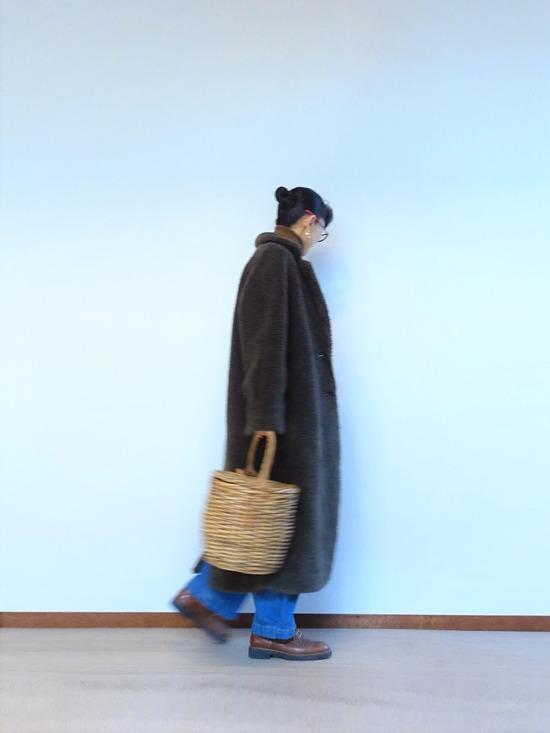 45R霜降り茶ガーゼタートル&タックデニム&mandoコート (1)