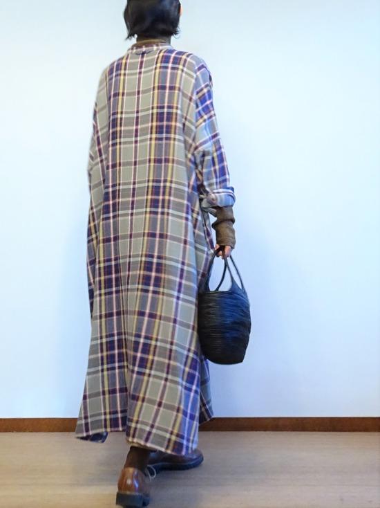 45Rチェックのネルビッグドレス (3)