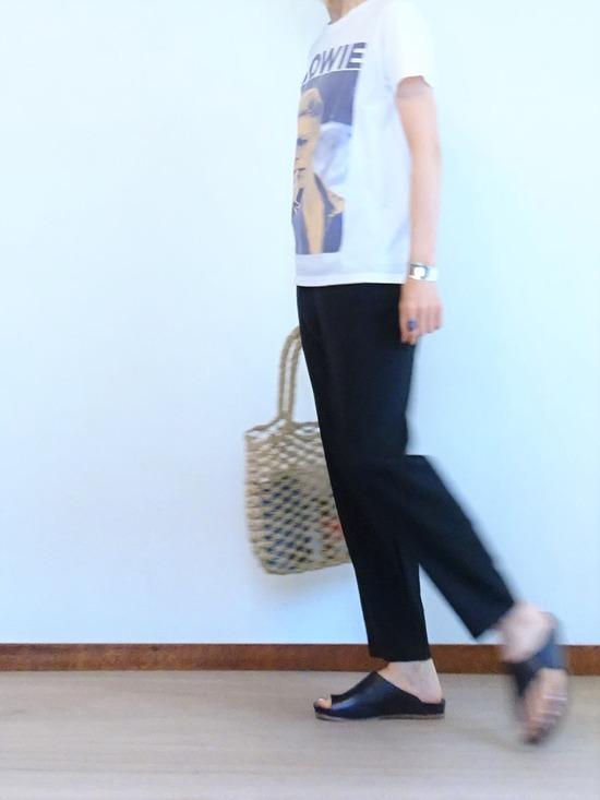 BOWIE Tシャツ&ヨーガンレールパンツ (2)