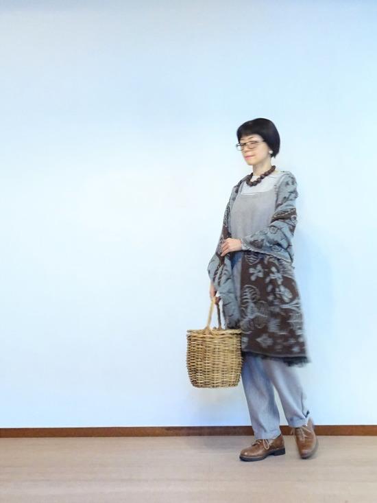 misty lineカットソー&ウールリネンサロペット (5)
