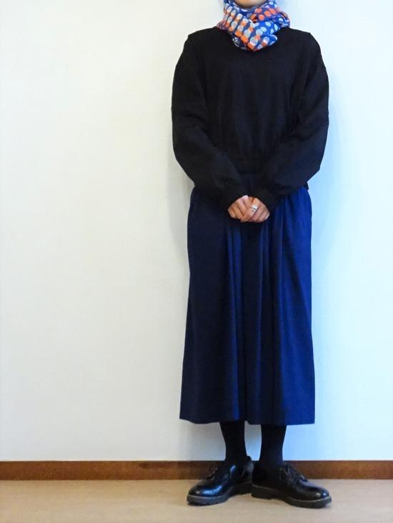 45Rインディゴタックドレス&黒トップス (2)