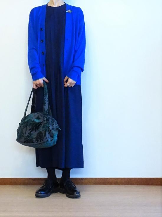 45Rタックドレス&カーデ&ブローチ (5)