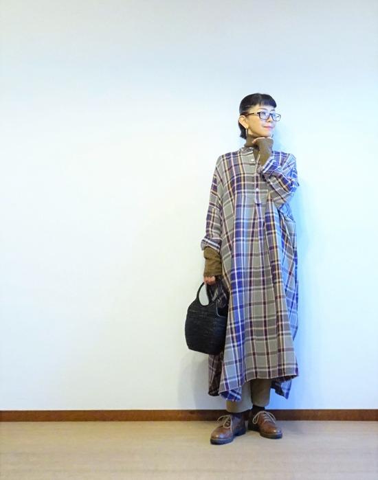 45Rチェックのネルビッグドレス (2)