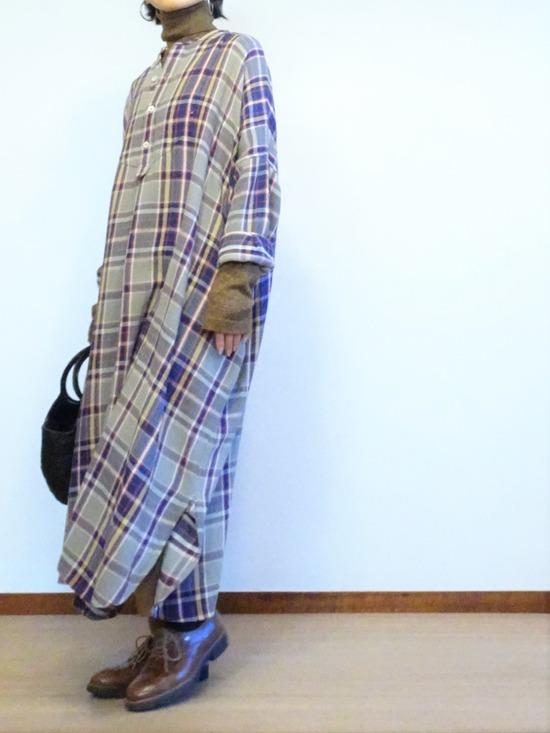 45Rチェックのネルビッグドレス (1)