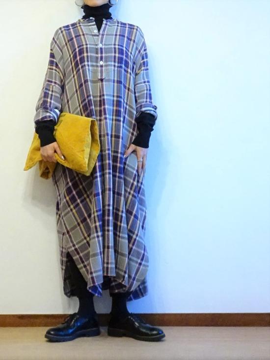45Rネルチェックドレス (4)