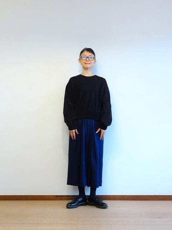 45Rインディゴタックドレス&黒トップス (3)