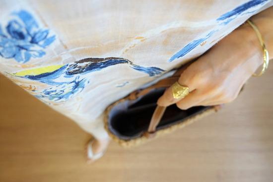 45R朝焼けプリントのワンピース&ビーサン (3)
