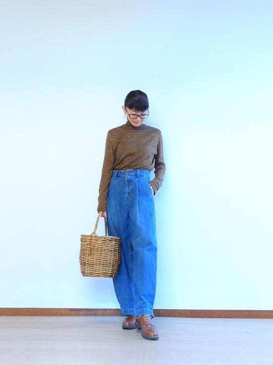45R霜降り茶ガーゼタートル&タックデニム&mandoコート (5)