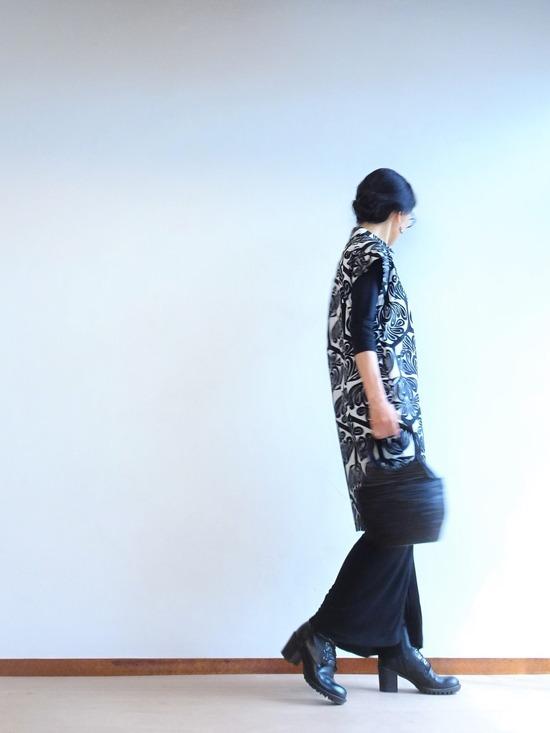 マルニモノトーンワンピ&アルマーニ巻スカート (1)