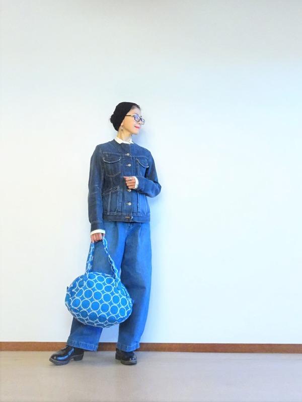 デニムジャケットとタックデニムのデニムオンデニム~ (7)