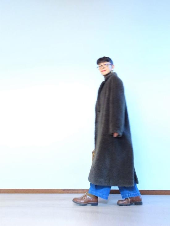 45R霜降り茶ガーゼタートル&タックデニム&mandoコート (6)