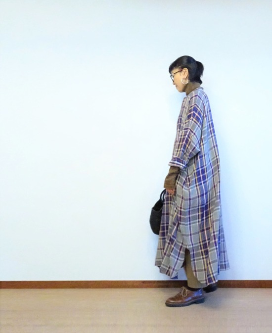 45Rチェックのネルビッグドレス (4)