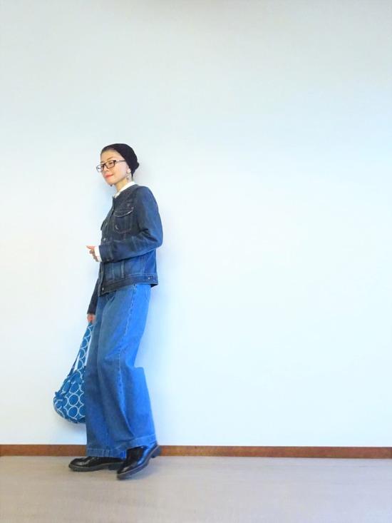 デニムジャケットとタックデニムのデニムオンデニム~ (1)