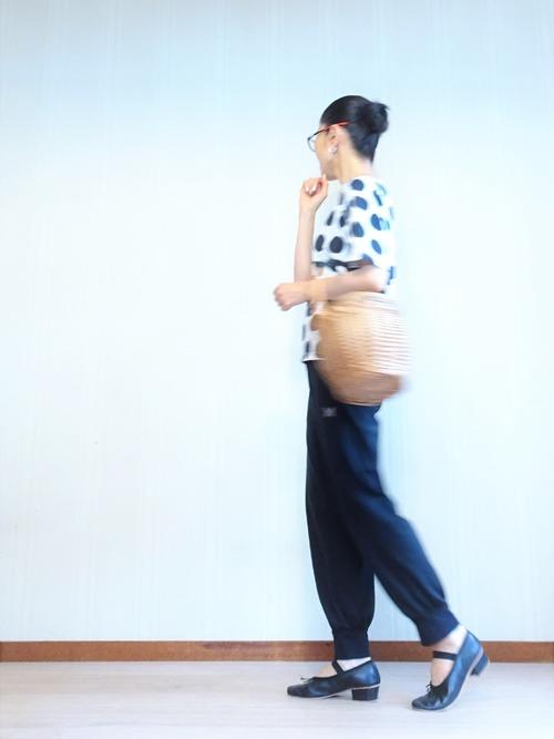 水玉T&ヨガパンツ (4)