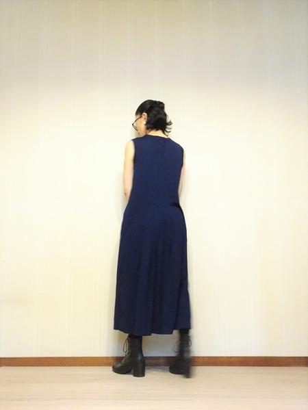 45R藍染タックドレスその弐 (9)