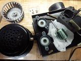塗装ブースのファン修理