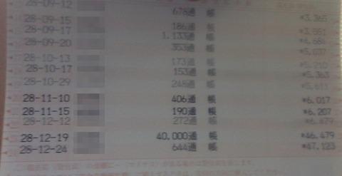 《〠小銭貯金》2016.12.30