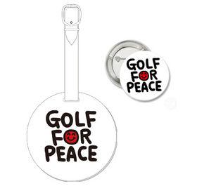 Golf For Peace オリジナルネームタグ&缶バッジセット