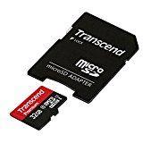 #7: 【Amazon.co.jp限定】Transcend microSDHCカード 32GB Class10 UHS-I対応 (無期限保証) Newニンテンドー3DS 動作確認済 TS32GUSDU1PE (FFP)