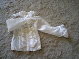 白ドレスシャツ縦フリル