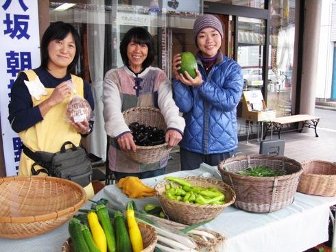 野菜市・八坂