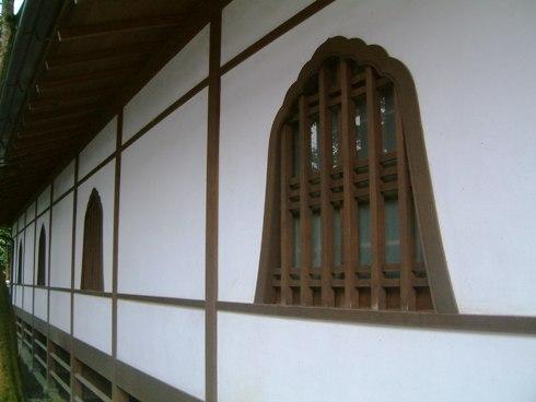 写経場の壁