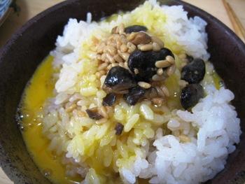 たまご&醤油豆