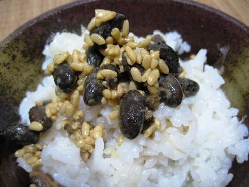 醤油豆・ご飯