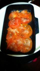 クックプレートで焼きトマト