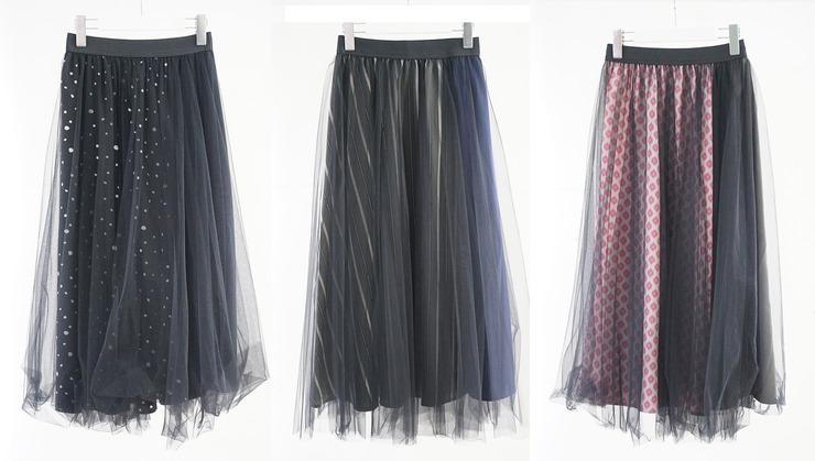 チュールスカート 3カラー