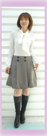 1 ボウタイカットにACUTA9800円スカート