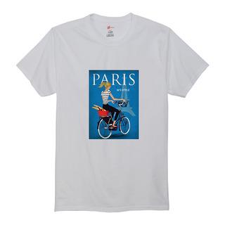 自転車プリントT
