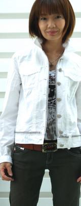 1 イタリー製ジャケット白 9800円