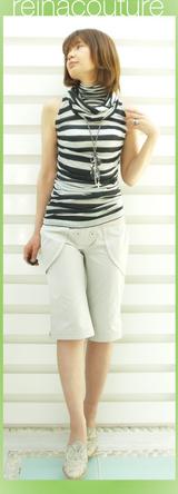 3 reinacoutureの ボーダーTシャツ 11000円「