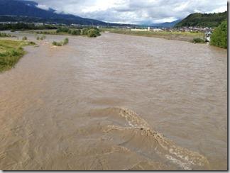 【台風18号】台風が過ぎ去ったあとの天竜川と支流