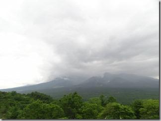 曇っていて残念!八ヶ岳の全景が見たかった