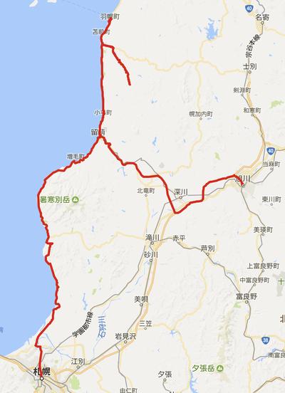 走行距離368km!札幌から旭川までのルート [北海道2017 秋 vol.11]