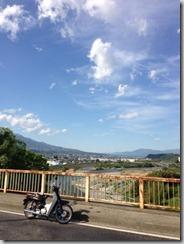 バイクで走る、日曜日の午後