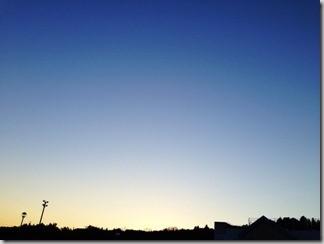 一日の終りの空 [写記 vol.209]