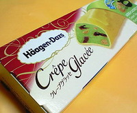 ハーゲンダッツ クレープグラッセ(抹茶黒みつ&きな粉クッキー)