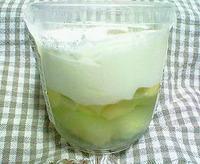 季節のフルーツを使った生チーズケーキ「メロン」(サークルKサンクス)