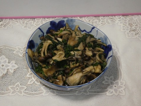 小松菜きのこ