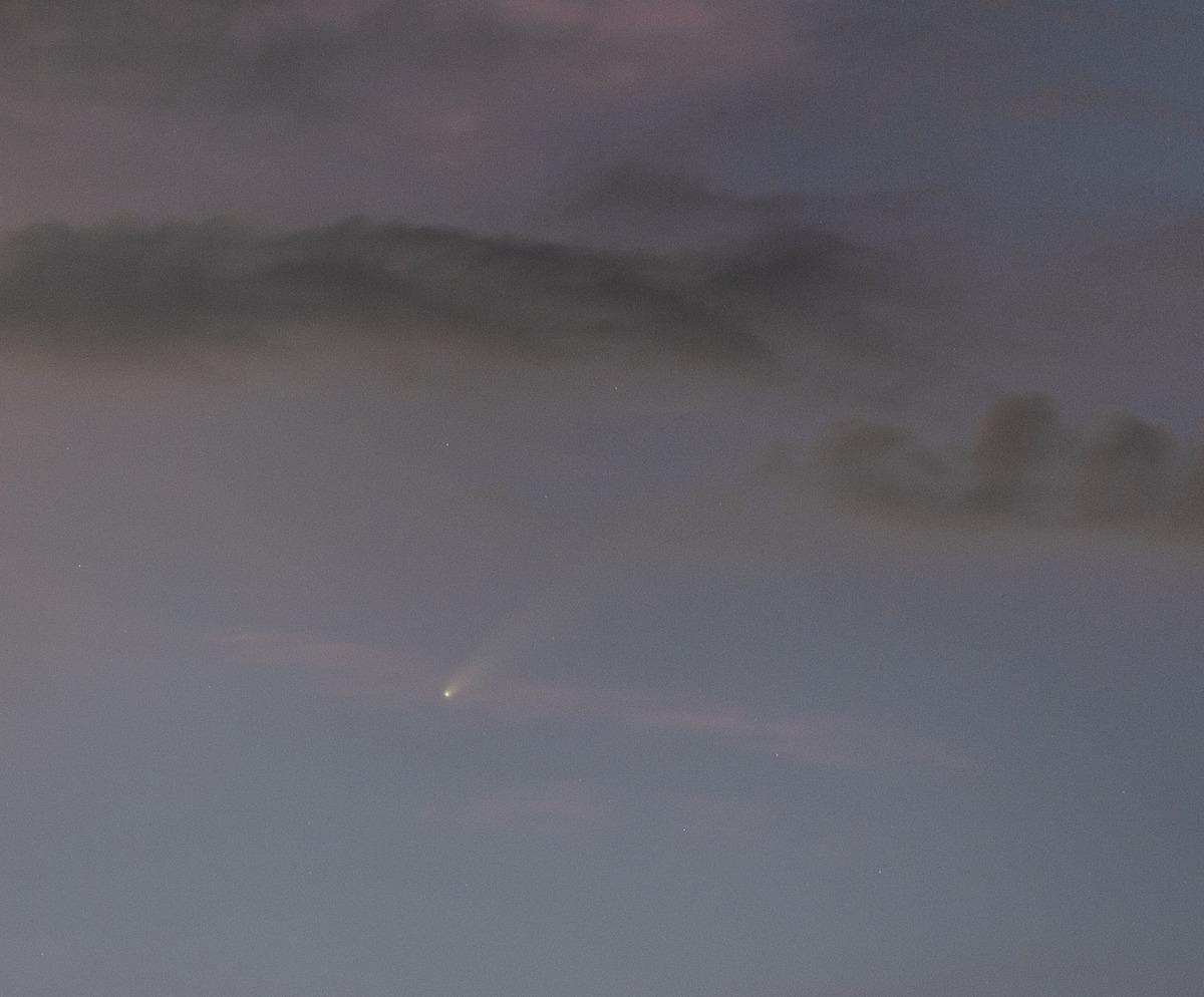 ネオワイズ彗星2020年7月16日20時05分拡大 小里川ダム