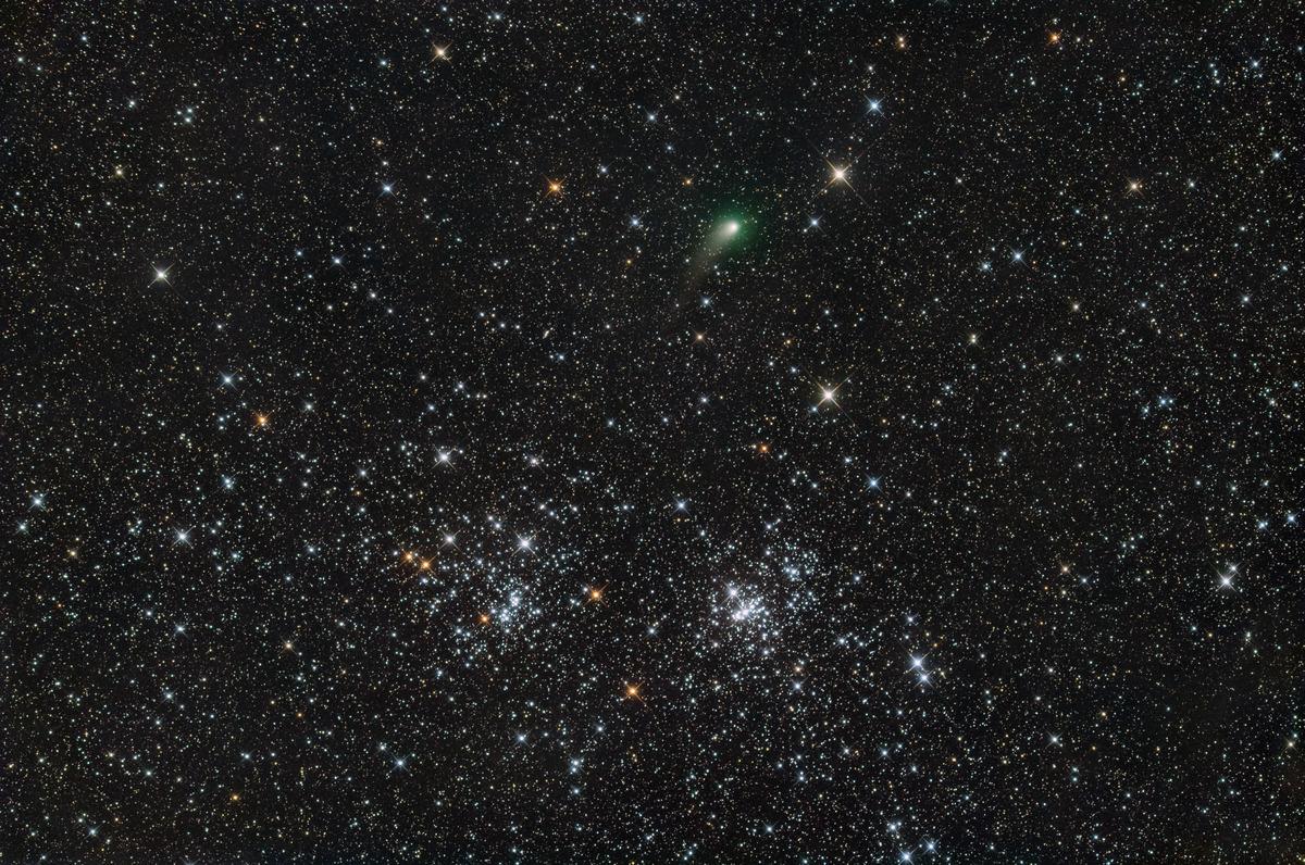 パンスターズ彗星二重星団に接近2
