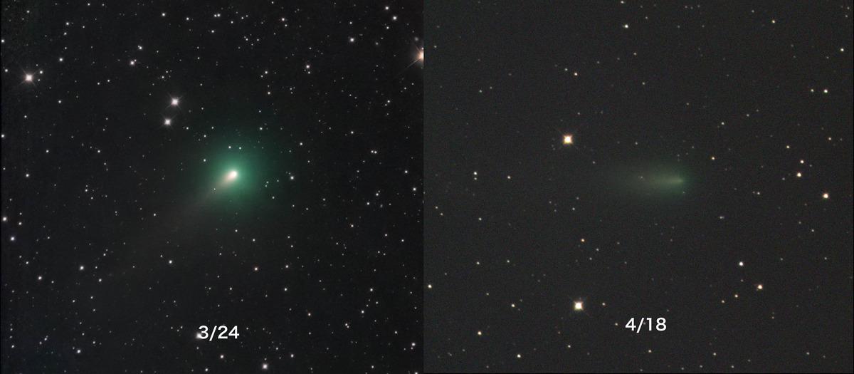 アトラス彗星C:2019Y4の核崩壊